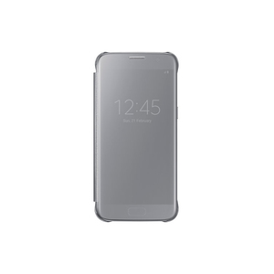 Samsung - Galaxy S7 Clear View Cover, Silver (EF-ZG930CSEGWW) | Dodax.co.uk