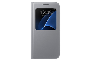 Samsung - S View Cover for  Galaxy S7,  Silver (EF-CG930PSEGWW) | Dodax.at