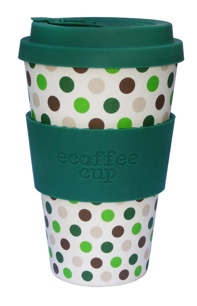 Ecoffee Cup Green Polka Brown,Green,White 1pc(s) cup/mug | Dodax.com