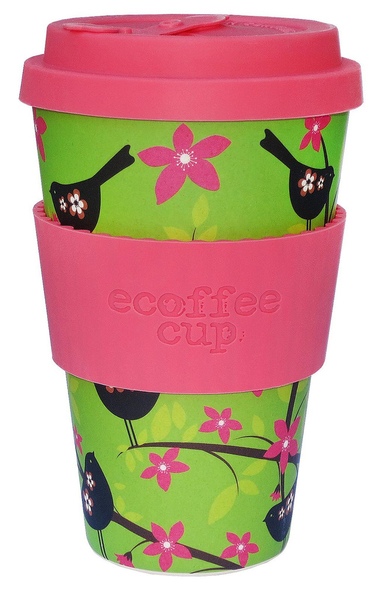 Ecoffee Cup Widdlebirdy Green,Pink 1pc(s) cup/mug | Dodax.com