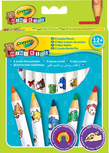 Crayola Mini Kids - 8 Jumbo Decorated Pencils | Dodax.ch