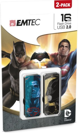 Emtec Batman Superman P2 16GB USB 2.0 Multi USB-Stick | Dodax.at