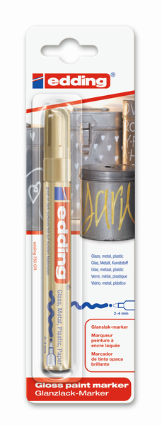 Edding Lackmarker 750 paint gold | Dodax.at