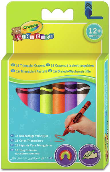 Crayola Mini Kids - 16 Triangular Crayons | Dodax.at