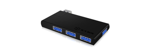 ICY BOX IB-Hub1401, schwarz, 4x USB3.0 Hub, | Dodax.at