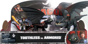 Dragons Toothless vs Armored Set Toy action figure | Dodax.ch