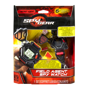 Spy Gear Field Agent Spy Watch Wristwatch Child Electronic Black,Grey,Red | Dodax.com