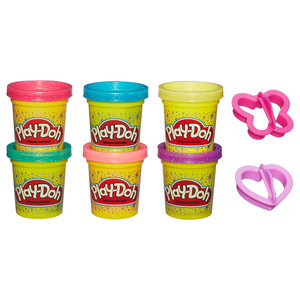 Hasbro Play-Doh Sparkle Compound Collection Modeling dough Blue,Green,Pink,Red,Violet,Yellow | Dodax.co.uk