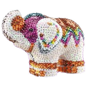 Paillettenfigur 3D Elefant | Dodax.co.uk