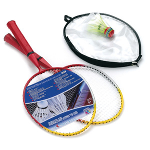 Happy People - Short Shaft Badminton Racket Set (74171) | Dodax.ca