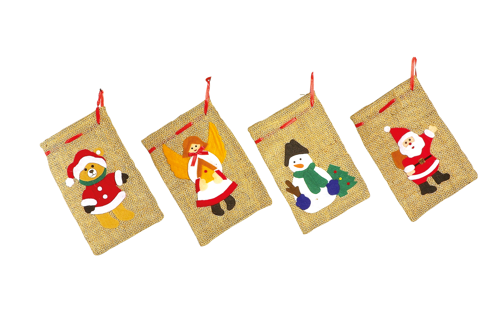 small foot Weihnachts-Jute-Säckchen, 4er Set 1691 | Dodax.co.uk