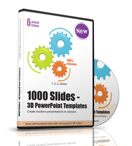 1000 Slides - 3D PowerPoint Templates, 1 CD-ROM | Dodax.at