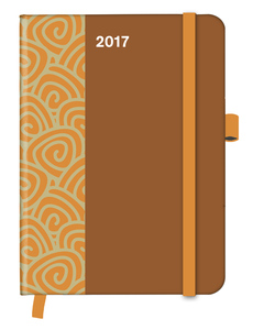 Cool Diary PATTERN Saddle Brown 2017 WEEKLY (16x22) | Dodax.ch