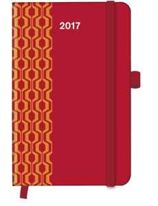 Cool Diary PATTERN Red 2017 WEEKLY (9x14) | Dodax.ch