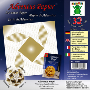 Adventus Papier Gold Weiß | Dodax.at