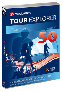 MagicMaps - TOUR Explorer 50, Digital Maps, Tour planning and GPS (Version 6, DVD-ROM) | Dodax.ch