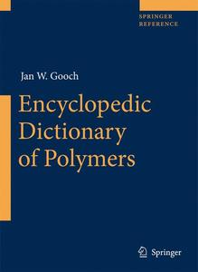 Encyclopedic Dictionary of Polymers | Dodax.pl