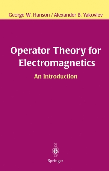 Operator Theory for Electromagnetics | Dodax.ch
