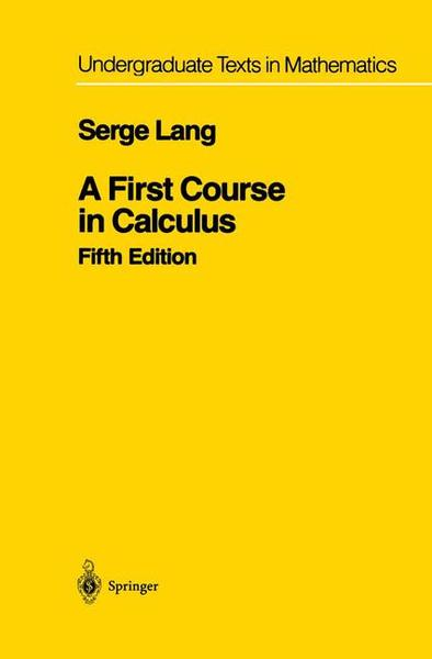 A First Course in Calculus | Dodax.pl