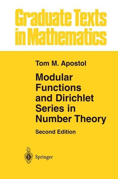 Modular Functions and Dirichlet Series in Number Theory   Dodax.pl