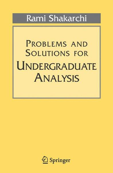 Problems and Solutions for Undergraduate Analysis   Dodax.pl
