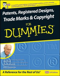 Patents, Registered Designs, Trade Marks and Copyright For Dummies | Dodax.pl