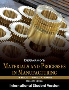 DeGarmo's Materials and Processes in Manufacturing | Dodax.ch