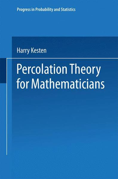 Percolation Theory for Mathematicians   Dodax.ch