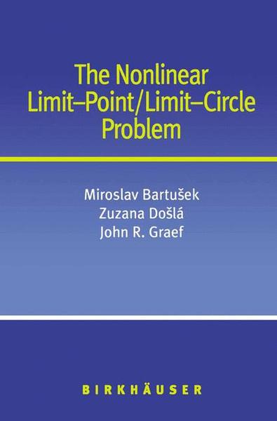 The Nonlinear Limit-Point/Limit-Circle Problem | Dodax.at