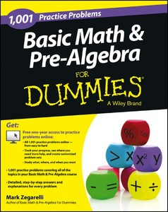 1,001 Basic Math and Pre-Algebra Practice Problems For Dummies | Dodax.co.uk