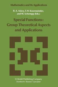 Special Functions: Group Theoretical Aspects and Applications | Dodax.pl