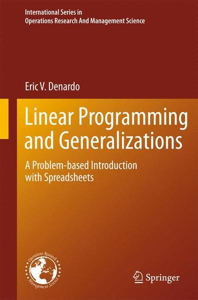 Linear Programming and Generalizations | Dodax.ch