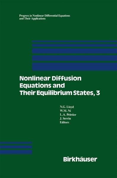 Nonlinear Diffusion Equations and Their Equilibrium States, 3 Pts. | Dodax.ch