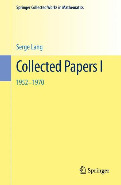 Collected Papers I | Dodax.ch