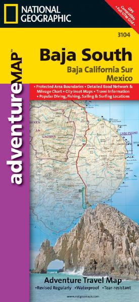 National Geographic Adventure Map Baja South | Dodax.at
