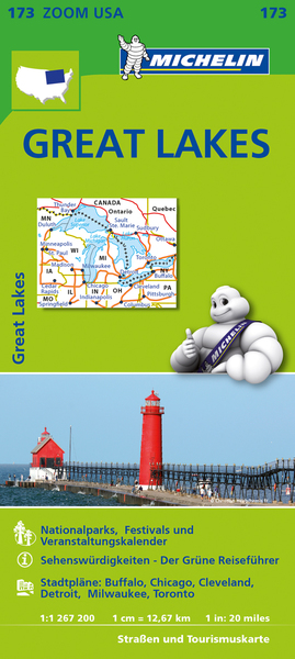 Michelin Karte Great Lakes | Dodax.at