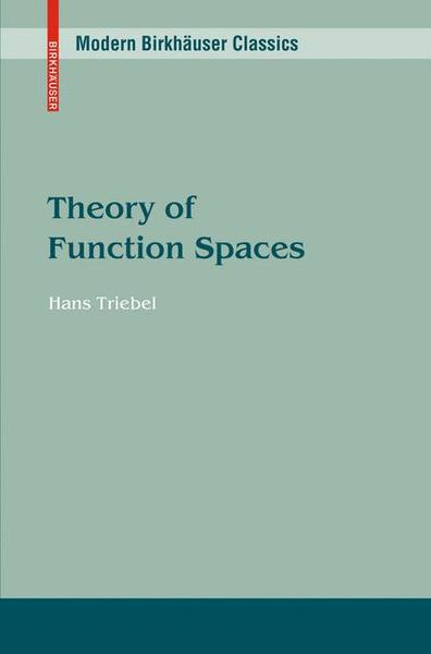 Theory of Function Spaces | Dodax.ch