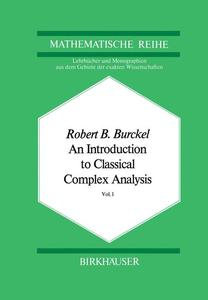 An Introduction to Classical Complex Analysis | Dodax.pl