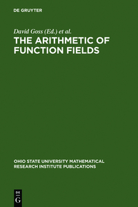 The Arithmetic of Function Fields | Dodax.ch