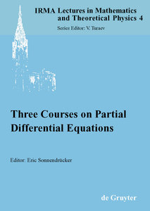 Three Courses on Partial Differential Equations | Dodax.ch