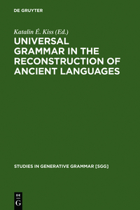 Universal Grammar in the Reconstruction of Ancient Languages | Dodax.ch
