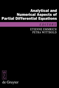 Analytical and Numerical Aspects of Partial Differential Equations   Dodax.at