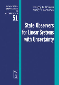 State Observers for Linear Systems with Uncertainty   Dodax.ch