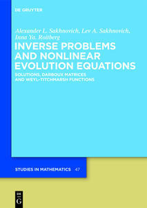Inverse Problems and Nonlinear Evolution Equations | Dodax.ch