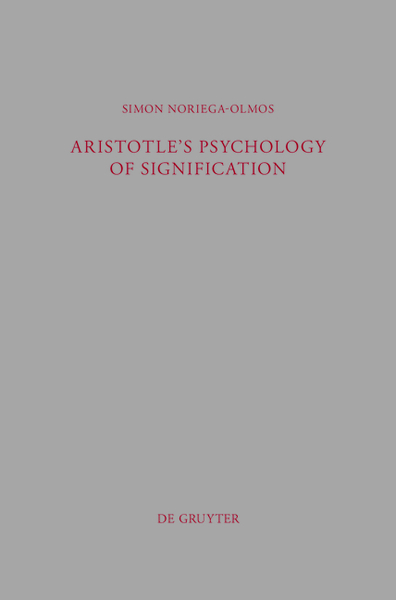 Aristotle's Psychology of Signification   Dodax.ch