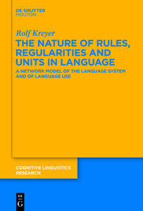The Nature of Rules, Regularities and Units in Language | Dodax.ch