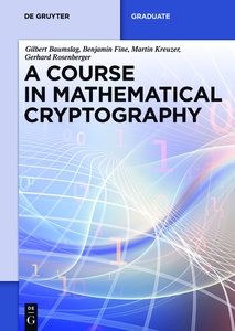 A Course in Mathematical Cryptography | Dodax.pl