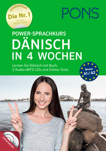 PONS Power-Sprachkurs Dänisch in 4 Wochen, 2 Audio + MP3-CDs und Online-Tests | Dodax.at