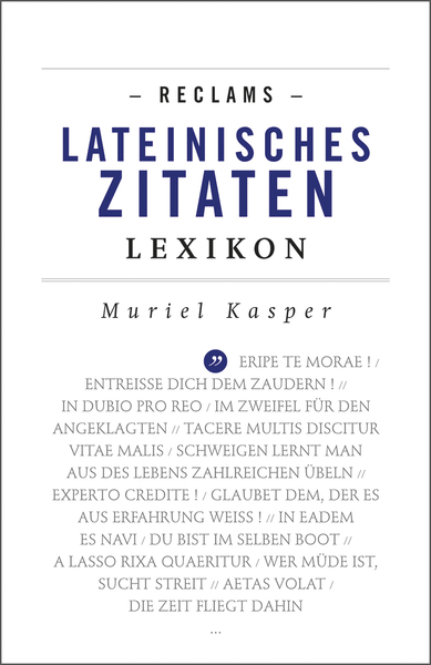 Reclams Lateinisches Zitaten-Lexikon | Dodax.de