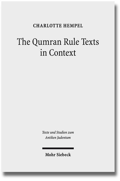 The Qumran Rule Texts in Context | Dodax.ch